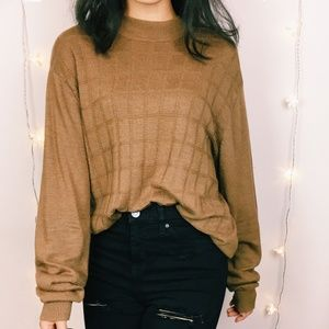 VTG Brown Slouchy Sweater